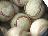 Close-up of Baseballs Print