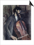 The Cellist Prints by Amedeo Modigliani