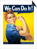 Military and War Posters: We Can Do It! J Howard Miller, 1942 Prints