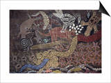 Aboriginal Wall Painting by the Tjapukai People Prints