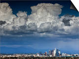 Downtown Los Angeles, California with Cumulonimbus Clouds Forming Overhead. Art by Ian Shive