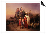 The Departure of Abraham, 1850 Prints by Josef Molnar
