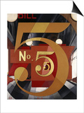 I Saw the Figure 5 in Gold Posters av Charles Demuth