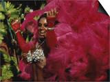 Mangulera Samba Dancer, Rio Carnaval Rio de Janiero, Brazil Prints