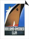 Dutch Travel Poster, 1932 Posters by Willem Ten Broek