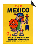 National Air and Space Museum: Pan American - Fly to Mexico Prints