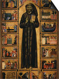 Altarpiece with Life of Saint Francis of Assisi Print by  Tuscan School