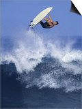 Surfer in Midair Posters