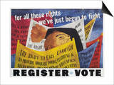 Voter Registration Poster Posters by Ben Shahn