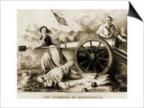 Molly Pitcher, Heroine of Monmouth Art by  Currier & Ives