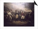 Surrender of General Burgoyne at Saratoga New Print by John Trumbull