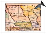 Kansas-Nebraska Map, 1854 Posters