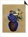 Redon: Vase Of Flowers Posters by Odilon Redon