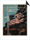 Center Warshaw Collection, Office of War Information Poster. REMEMBER DEC. 7th! Poster