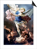The Archangel Michael Posters by Luca Giordano
