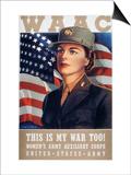 WWII: Waac Poster, 1942 Art