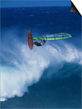 Person Windsurfing in the Sea Art