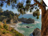 Mcway Falls at Julia Pfeiffer Burns State Park on the Big Sur Coast of California Poster by Kyle Hammons