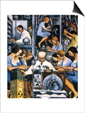 Rivera: Mechanization 1932 Posters by Diego Rivera