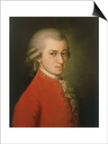 Posthumous Painting of Wolfgang Amadeus Mozart, 1756-1791 Poster