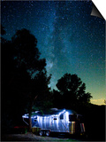 Yosemite National Park, California: an Airstream Parked Just Outside the Park in El Portal. Print by Ian Shive