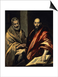 The Apostles St. Peter and St. Paul Print by  El Greco