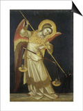 Ærkeenglen Mikael Plakater af Ridolfo di Arpo Guariento