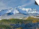 A Fresh Blanket of Snow on Mount Wilson Signifies a Change of Seasons in the Rocky Mountains. Print by Howard Newcomb