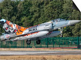 A French Air Force Mirage 2000 Lands on the Runway at Kleine Brogel Air Base, Belgium Prints by  Stocktrek Images