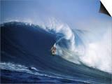 Surfer Riding a Wave Prints