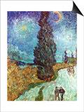 Van Gogh: Road, 1890 Prints by Vincent van Gogh