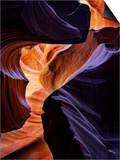 Lower Antelope Canyon Shows a Rainbow of Colors When Light Bounces Off the Sandstone Posters by Miles Morgan