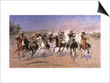 Dash For the Timber Print by Frederic Sackrider Remington
