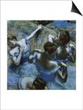 Blue Dancers Poster by Edgar Degas