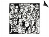 Faces in Black and White Prints by Diana Ong