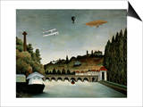 Landscape with Zeppelin, c.1908 Prints by Henri Rousseau