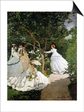 Femmes au jardin (Women in the Garden), 1866-67 Posters by Claude Monet