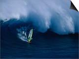 A Windsurfer Riding a Big Wave Prints
