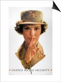 WWII: Careless Talk Poster Print