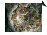 View of Olympus, Home of the Gods, Fresco in the Room of the Giants Prints by Giulio Romano