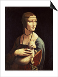 Cecilia Gallerani, Mistress of Ludovico Sforza, Portrait Known as Lady with the Ermine, c. 1490 Posters by  Leonardo da Vinci