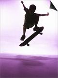 Skateboarder Silhouette Prints