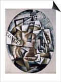Violin Plakat av Liubov Sergeevna Popova