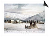 Trading Outpost, C1860 Prints by Peter Petersen Tofft