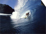 Surfer Riding a Wave Posters