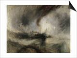 Snow Storm: Steam-Boat Off a Harbour's Mouth Posters by J. M. W. Turner
