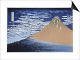 Red Fuji Prints by Katsushika Hokusai