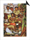 Rivera: Grinding Corn Prints by Diego Rivera