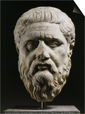 Marble Head of Plato 428-348 BC, Greek philosopher, 350-40 BC Prints