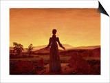 Caspar David Friedrich - Morning Light - Reprodüksiyon